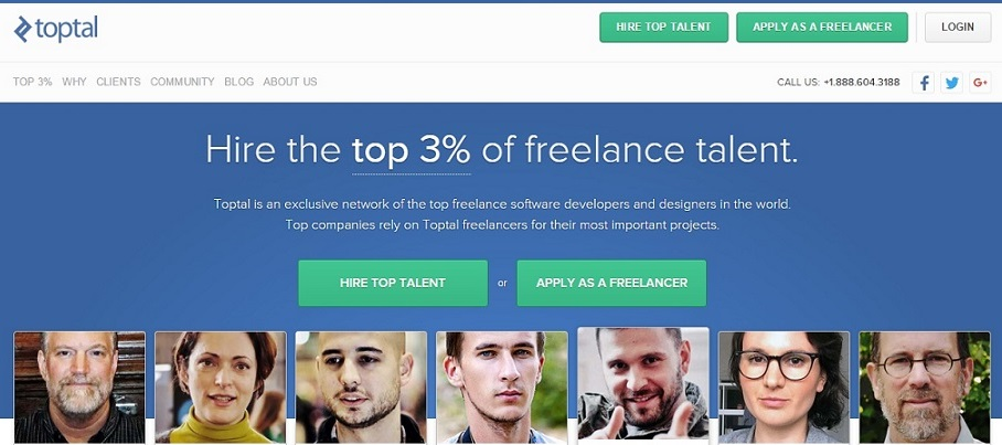 toptal - freelancing site for software people