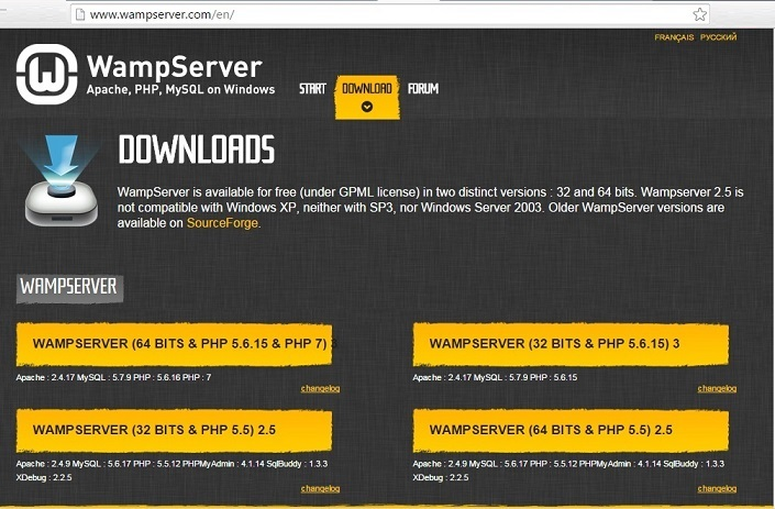 wamp server for wordpress