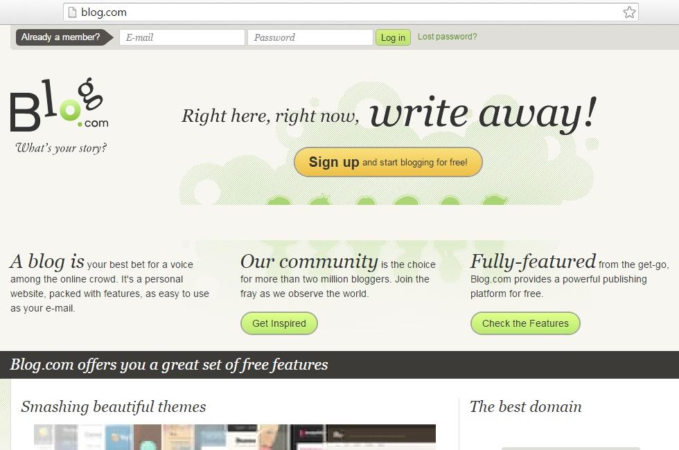 blog.com publishing platform for free.