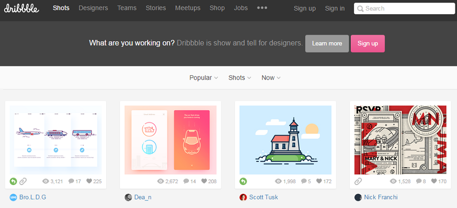 dribble-designing-freelancing-site