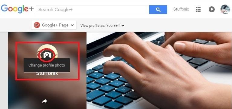 setup youtube profile image
