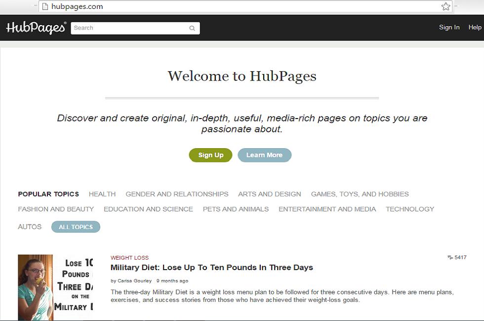 hubpage social netowrking, thought sharing platform