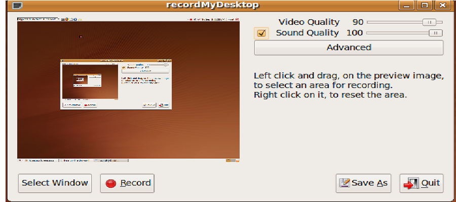 RecordMyDesktop