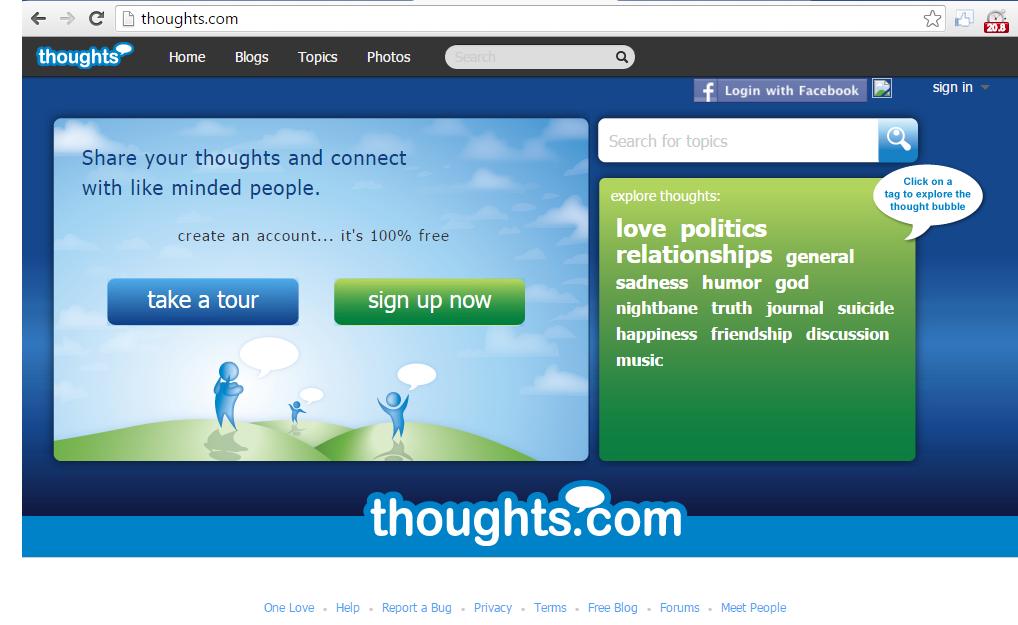 thought.com blogging platform