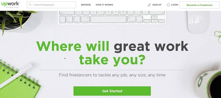 Upwork- Best freelancing site