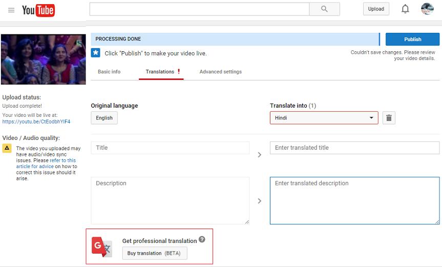 video description translation