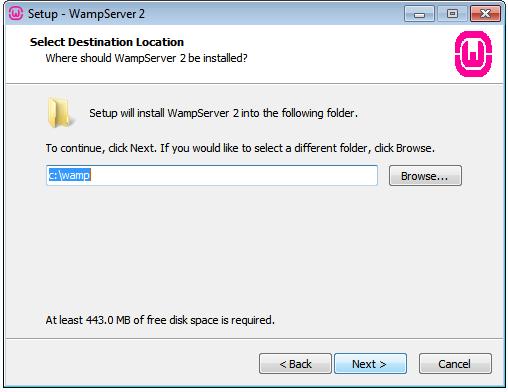 wamp default installation drive