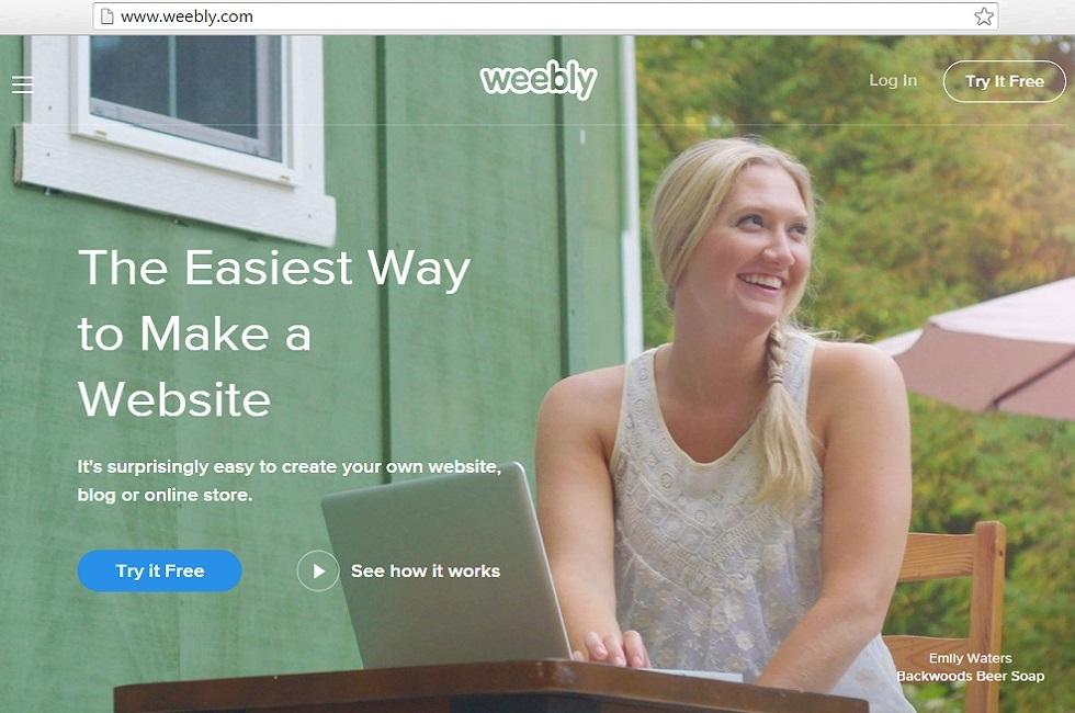 Weebly website or blogging platform