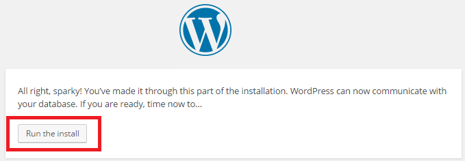 wordpress installation steps