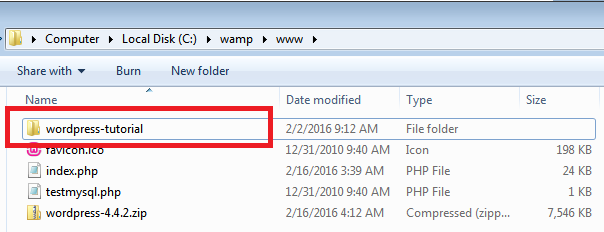 rename wordpress folder in www location