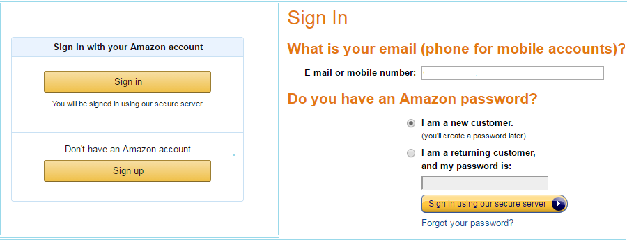 amzon kindle signup process steps
