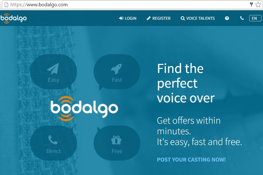 bodalgo voice over job at home