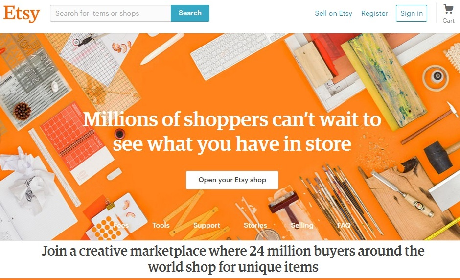 Best site to sell handmade craft items online for Best house buying websites