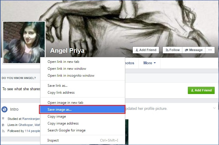 facebook fake profile check by image
