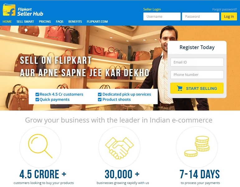 flipkart.com for selling item online