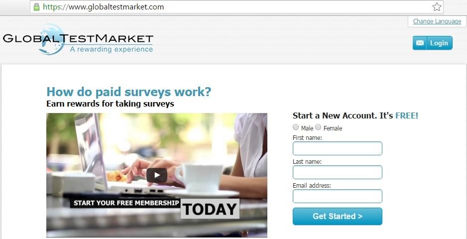 globaltestmarket online survey website