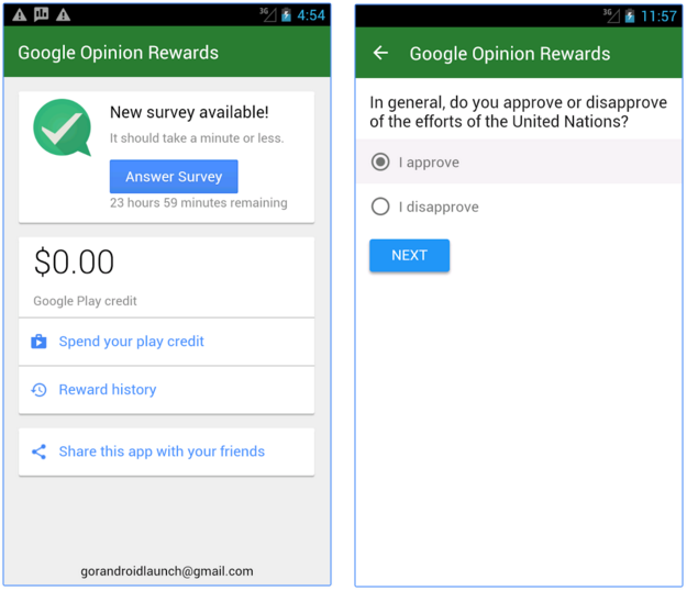 how to make a survey on google