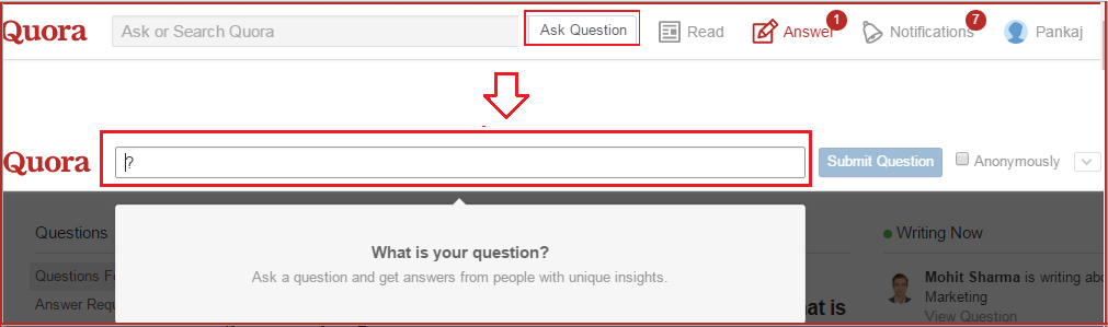 quora how to ask question
