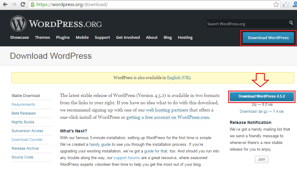 wordpress-download-website