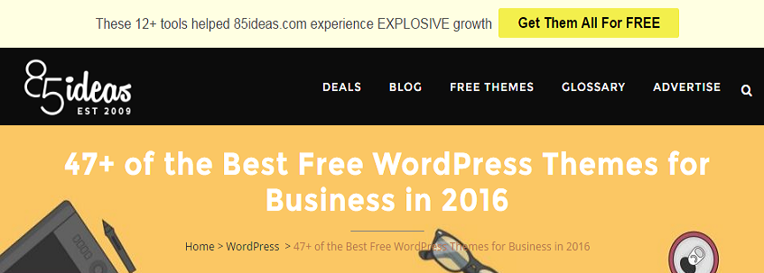 85ideas free wordpress theme