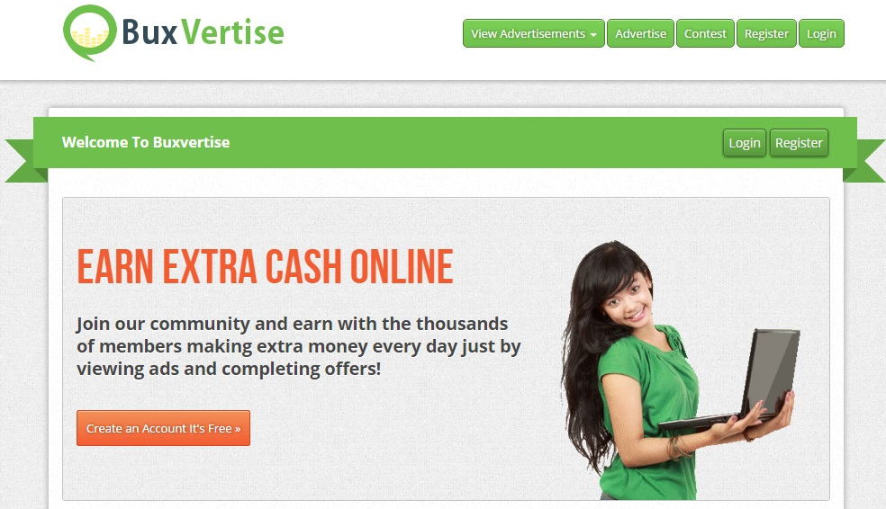 Buxvertise payperclick earning