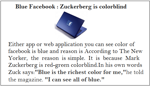 why facebook blue color reason