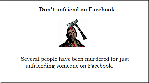 facebook fact about murder