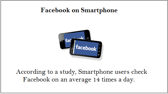 facebook on smartphone