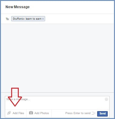 facebook send files