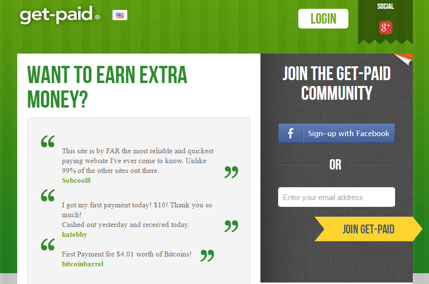 get-paid earn from home