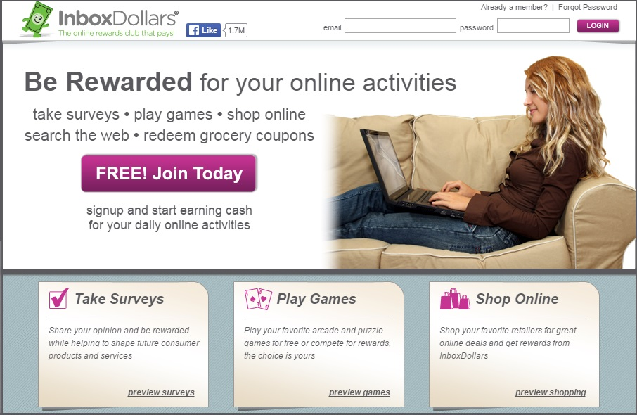 inboxdoller earn online home