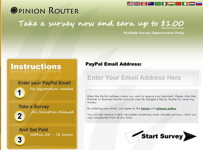 opinionrouter online money