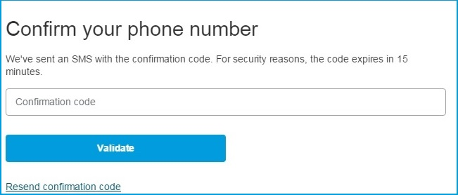 confirmed mobile number on Paypal