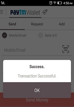 paytm transfer money to another paytm account