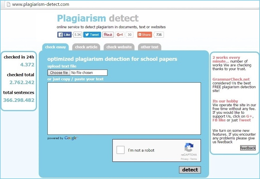 plagiarism detect tool