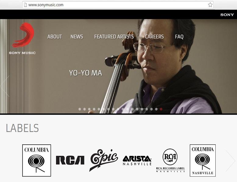 sony music wordpress platform