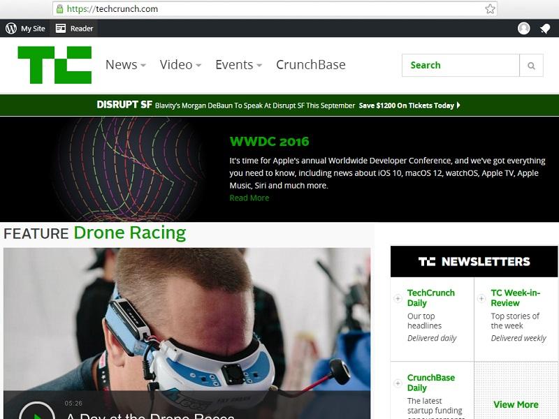 techcrunch sites on wordpress platform