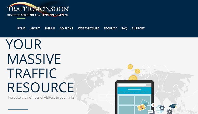 trafficmansoon payperclick online earning