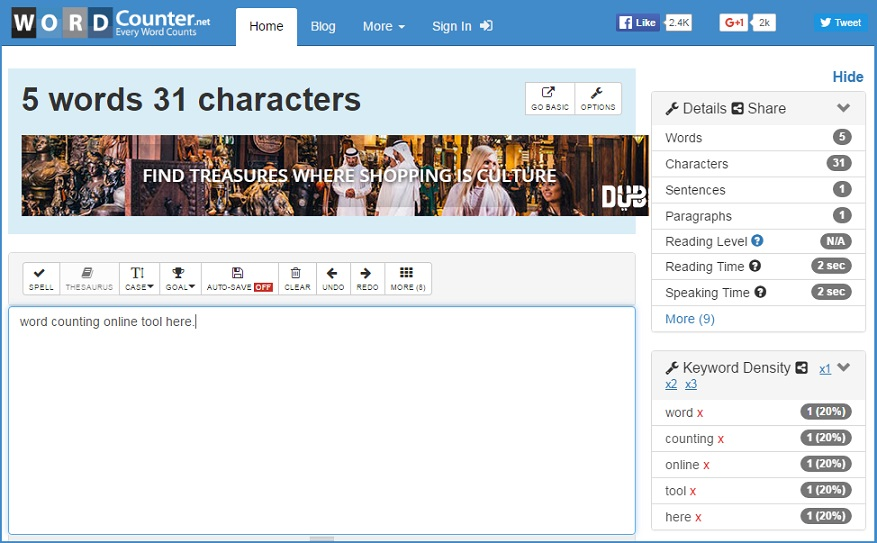 wordcounter word counter online tool