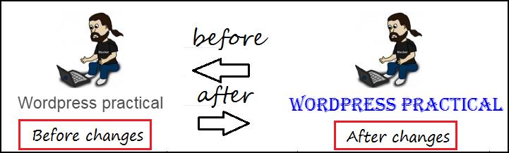 wordpress blog heading style