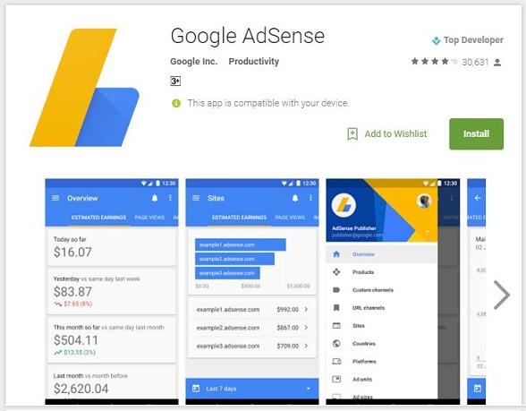google-adsense-android-app