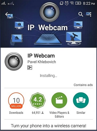 ip-webcam-app-installed