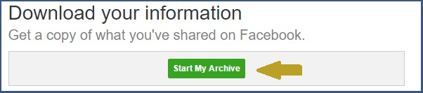 start-archive-facebook-data