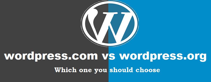 Which one you should choose wordpress.com vs wordpress.org