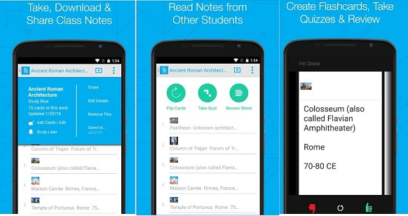 studyblue flashcard apps for college students
